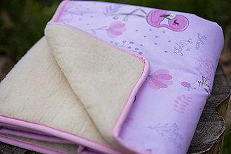 Textil - Deka z ovčej vlny rúžová - 13556707_