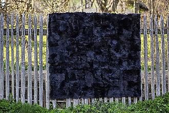 Úžitkový textil - Luxusný kožušinový prehoz čierny - 13556716_