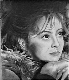 Kresby - Portrét-Libuša Šafránková - 13556796_