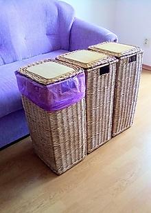 Košíky - Koše na separovaný odpad PETRA / ks - 13556346_