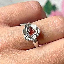 Prstene - Rose Garnet Ring Ag925 / Strieborný prsteň s granátom - 13558490_