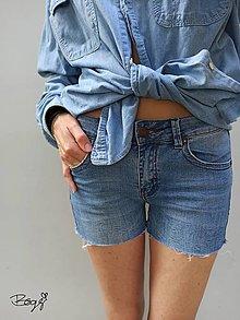 Nohavice - recy džínové kraťasy MANGO jeans - 13559841_
