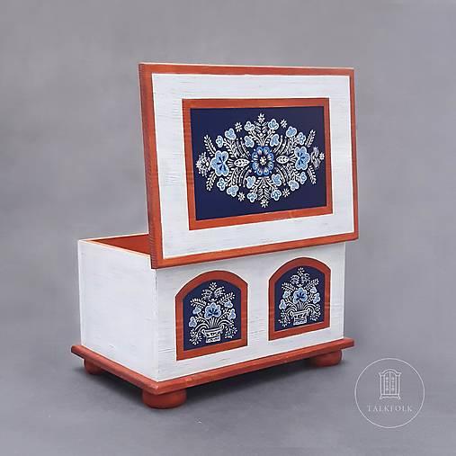 Maľovaná truhlica - Modrotlač (rôzne veľkosti)