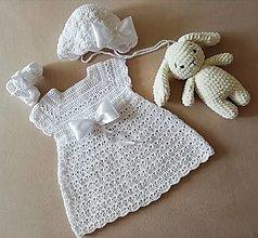 Detské oblečenie - Hačkovana supravyčka na krst - 13559243_