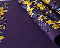 Úžitkový textil - Maľované prestieranie pod tanier - fialové, 44 x 32 cm - 13558738_