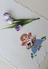 Úžitkový textil - Vyšívané prestieranie - richelieu - pestrofarebné, 58 x 28 cm - 13558749_