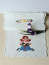 Úžitkový textil - Vyšívané prestieranie - richelieu - pestrofarebné, 58 x 28 cm - 13558759_