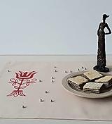 Úžitkový textil - Maľované prestieranie pod tanier - béžová, 34 x 31 cm - 13558778_