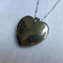 Náhrdelníky - Pyritové srdce - 13559253_