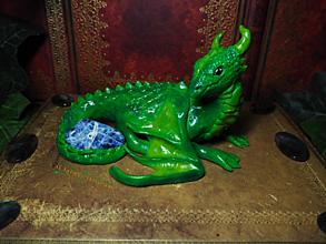 Dekorácie - Zelený Dráčik so Sodalitom - 13558310_