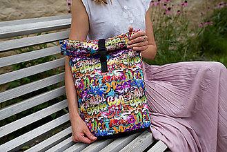 Batohy - Rolovací batoh Graffiti - střední - 13559721_