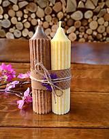 Svietidlá a sviečky - Sada vonných sviečok, hnedá, žltá - 13559035_