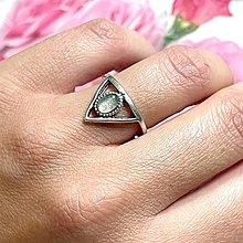Prstene - Antique Silver Labradorite Ring / Vintage prsteň s labradoritom - 13561351_