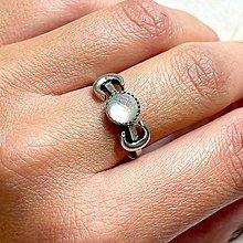 Prstene - Antique Silver Pearl Doublet Ring / Vintage prsteň s dubletom - perleť - 13561382_