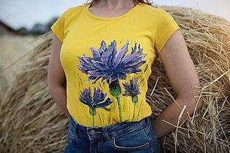 Tričká - Maľované tričko Nevädza - 13560784_