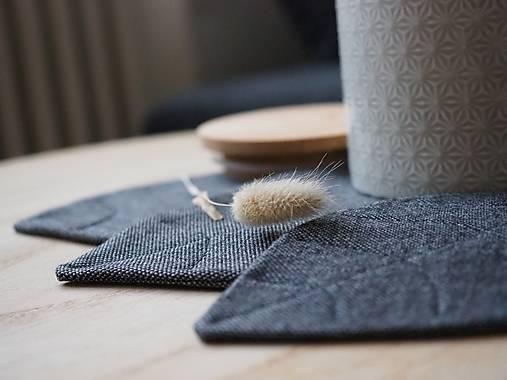 Úžitkový textil - recy podložky Leaves I. - 13561895_