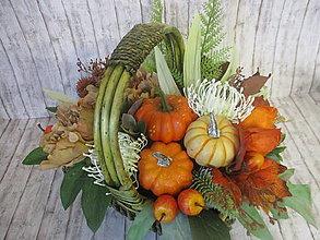 Dekorácie - Jesenný košík - 13560163_
