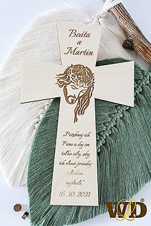 Dekorácie - Krížik na manželskú prísahu - 13560615_