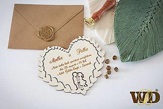 Papiernictvo - Drevené svadobné oznámenia - 13560632_