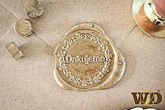 Papiernictvo - Vosková nálepka - 13560785_