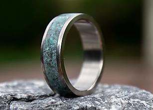 Prstene - SKLADOM - Titánový prsteň Tyrkys - 13561698_