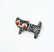 Odznaky/Brošne - Tana šperky - keramika/zlato - 13560102_