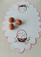 Úžitkový textil - Prestieranie, košík s vajíčkami, ovál, 33 x 54 cm - 13560756_