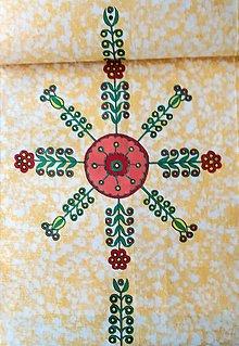 Úžitkový textil - Maľovaný obrus stredový - žltý melír, 41 x 138 cm - 13561119_