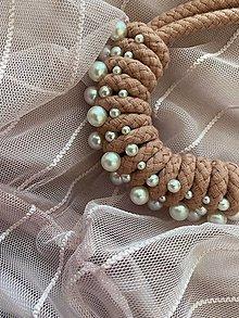 Náhrdelníky - Pošitý perlami - lososový - 13561931_
