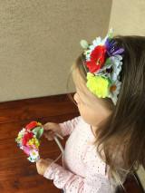 Ozdoby do vlasov - Kvetinová čelenka - 13560572_