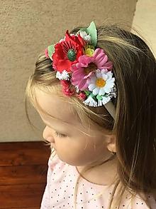 Ozdoby do vlasov - Kvetinová čelenka - 13560571_