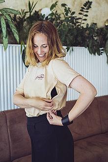 Tričká - Tričko na dojčenie MOMoffice - 13561709_