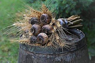 Dekorácie - Natur kytica s makovicami - 13562092_