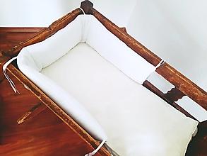 Textil - Mantinel vatelínový nedelený biely satén - 13562695_