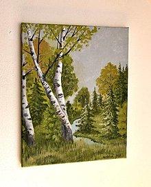 Obrazy - Maľovaný obraz - Nesmelé kroky jesene - 13563071_