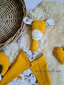Hračky - Mojkáčik  žirafa  s dečkou  - / možnosť súpravy/ - 13562680_