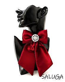 Odznaky/Brošne - Dámsky motýlik - luxusný - bordový - vínový - brošňa - 13562420_