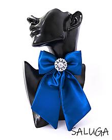 Odznaky/Brošne - Dámsky motýlik - luxusný - kráľovsky modrý - brošňa - 13562422_