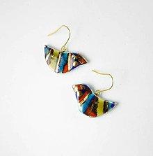 Náušnice - Tana šperky - keramika/zlato - 13563180_