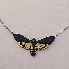 Náhrdelníky - Prívesok Nočný motýľ (Smrtihlav) zlatý - 13562865_