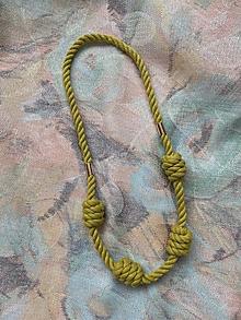 Náhrdelníky - Dlouhý náhrdelník - zelenožlutý - 13562509_