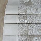 Úžitkový textil - REBEKA - biele mandaly na béžovom melíre - stredový obrus  (135 cm x 40 cm) - 13562114_