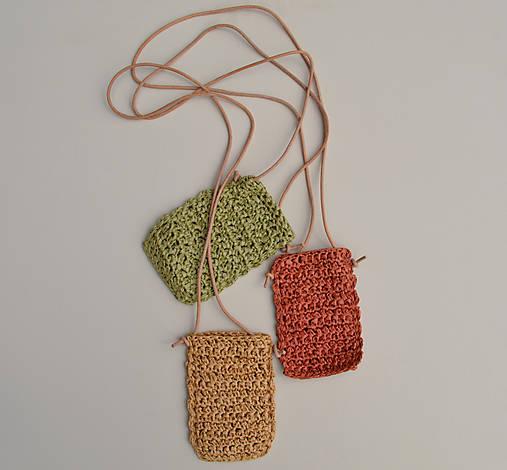 Iné tašky - Kapsička na telefón...palmová zelená - 13562957_