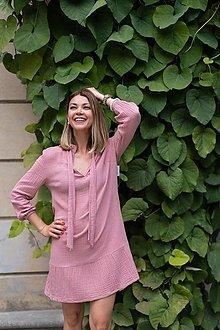 Šaty - Mušelínové šaty ružové 2 (36) - 13562910_