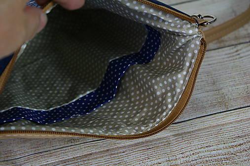 modrotlačová kabelka Dara béžová 3