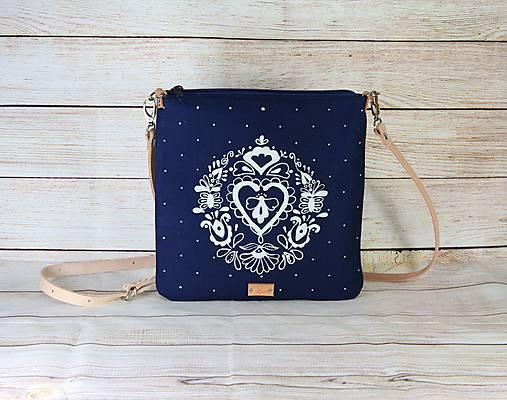 modrotlačová kabelka Dara modrá AM