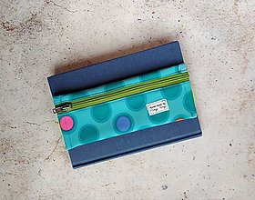 Iné tašky - Taštička na perá k zápisníku, tyrkysový softshell - 13565547_