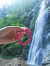 Náramky - Náramok z ružovej pemzy - AKCIA - 13564586_