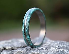 Prstene - SKLADOM - Titánový prsteň Tyrkys - 13566536_
