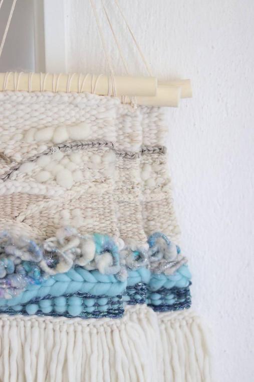 Ručne tkaná vlnená tapiséria
